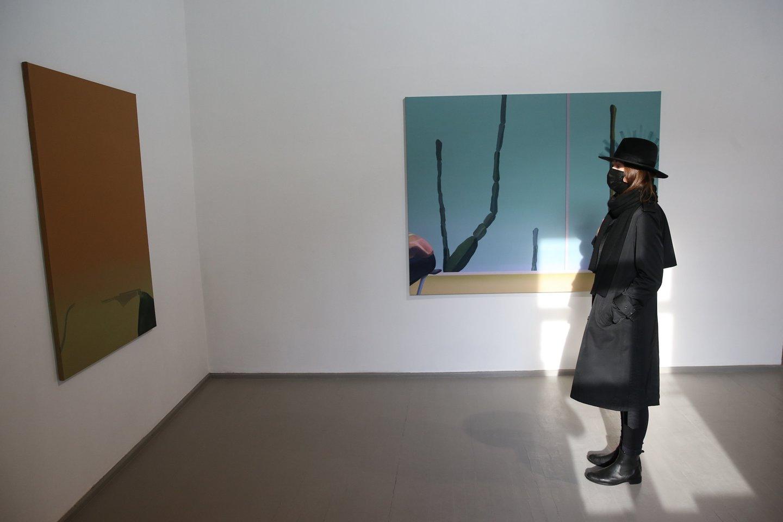 """Sostinės galerija """"Vartai"""" pakvietė žiūrovus į Lino Jusionio personalinę parodą """"Siesta"""".<br>R.Danisevičiaus nuotr."""