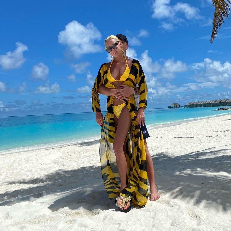 Anastasijos Voločkovos atostogos Maldyvuose.<br>Instagramo nuotr.