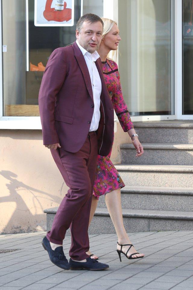 Antanas ir Aistė Guogos 2020-ųjų birželį.<br>R.Danisevičiaus nuotr.