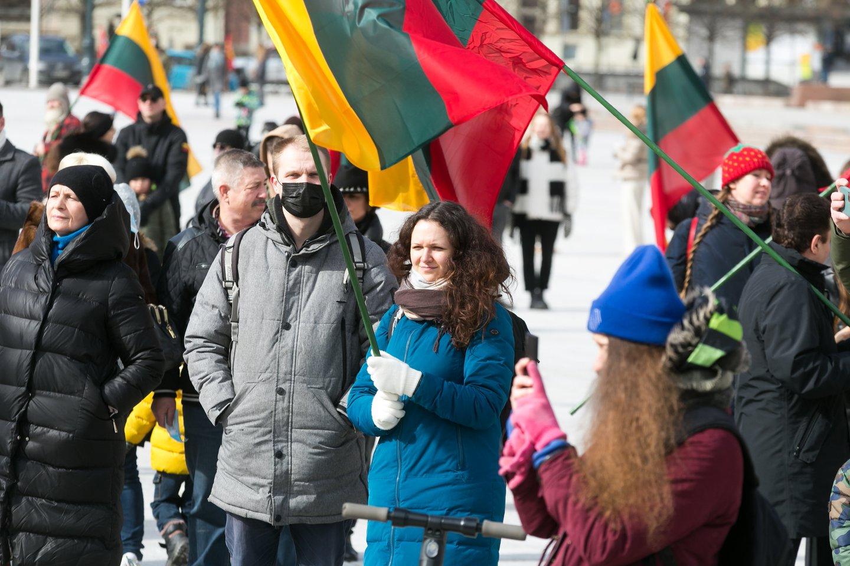 Protestas.<br>T.Bauro asociatyvi nuotr.