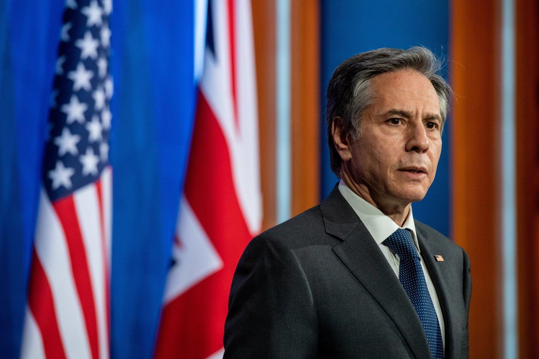 JAV valstybės sekretorius Antony Blinkenas.<br>Reuters/Scanpix nuotr.