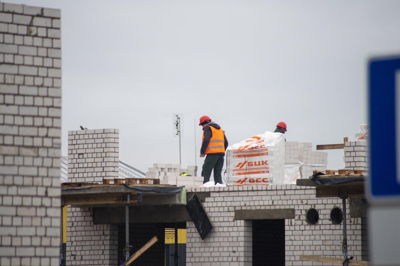 Statyti, nors ir neapsimoka, ar stabdyti projektus, verčiau susimokant baudas – tokią dilemą pastaruoju metu sprendžia ne vienas verslininkas.<br>V.Ščiavinsko nuotr.