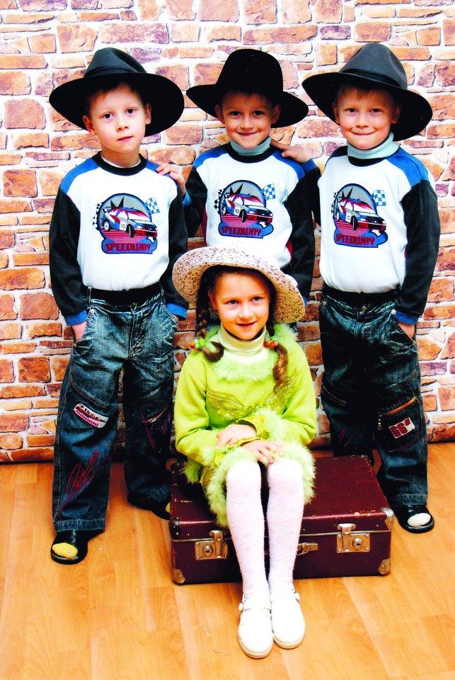 Anksčiau Evelina mėgdavo vadovauti broliams.<br>Asmeninio albumo nuotr.