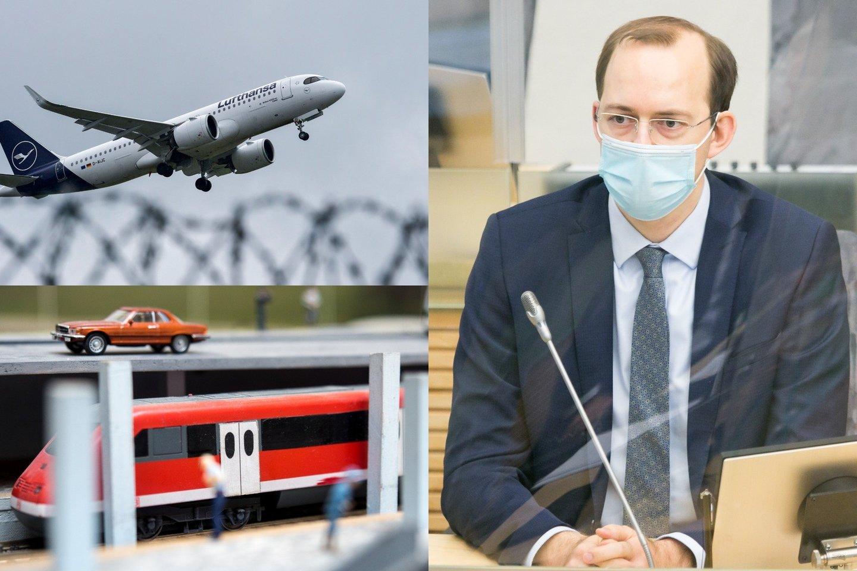 Susisiekimo ministras Marius Skuodis skeptiškai vertina metro Vilniuje bei naujo oro uosto statybos idėjas, tačiau remtų tramvajaus projektą sostinėje.<br>lrytas.lt fotomontažas