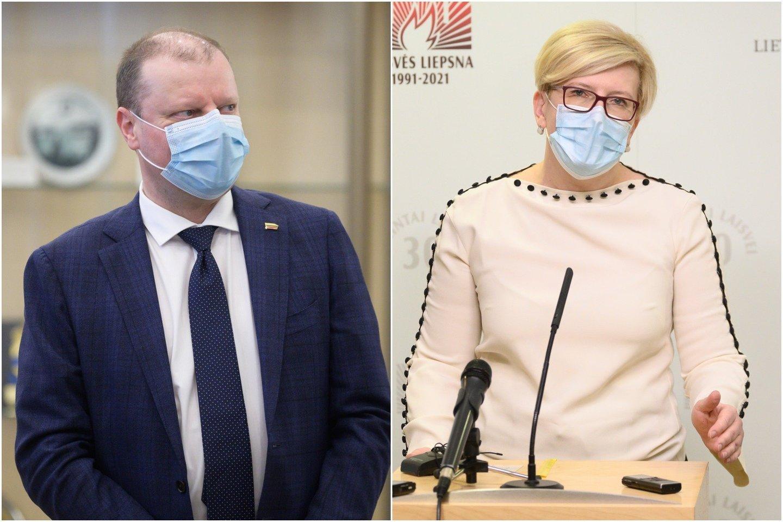 I . Šimonytė atsakė į S. Skvernelio priekaištus: ministrams galimybė turėti keturis viceministrus visada buvo.<br>lrytas.lt koliažas.