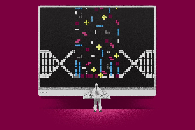 """Originaliai CRISPR-Cas sistema yra bakterijų molekulinis mechanizmas, skirtas apsisaugoti nuo virusų.<br>""""Spectrum"""" iliustr."""