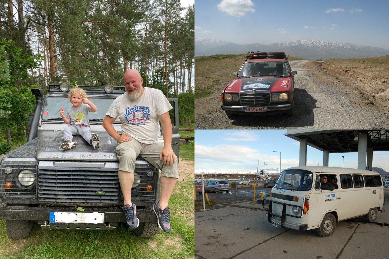 Tūkstančius kilometrų skirtinguose žemynuose įveikęs V.Radzevičius žino, kokios transporto priemonės kelionės metu patvariausios.<br>Asmeninio archyvo nuotr.