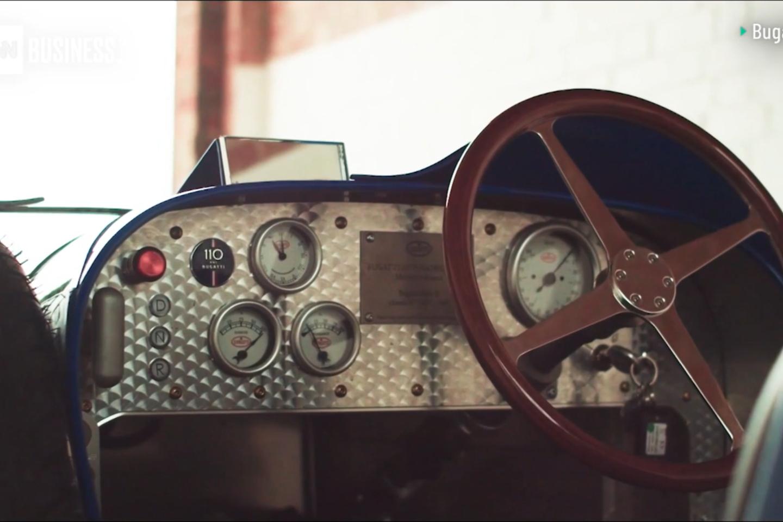 """Prancūzijos """"Bugatti"""" kompanija pradėjo gaminti nedidelį elektrinį automobilį, skirtą važinėti vaikams – """"Baby II"""".<br>Stop kadras"""