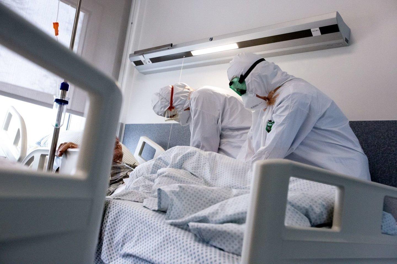 Vilniaus ir Kauno apskrityse COVID-19 lovų užimtumas mažėja, Šiauliuose – auga.<br>V.Balkūno nuotr.