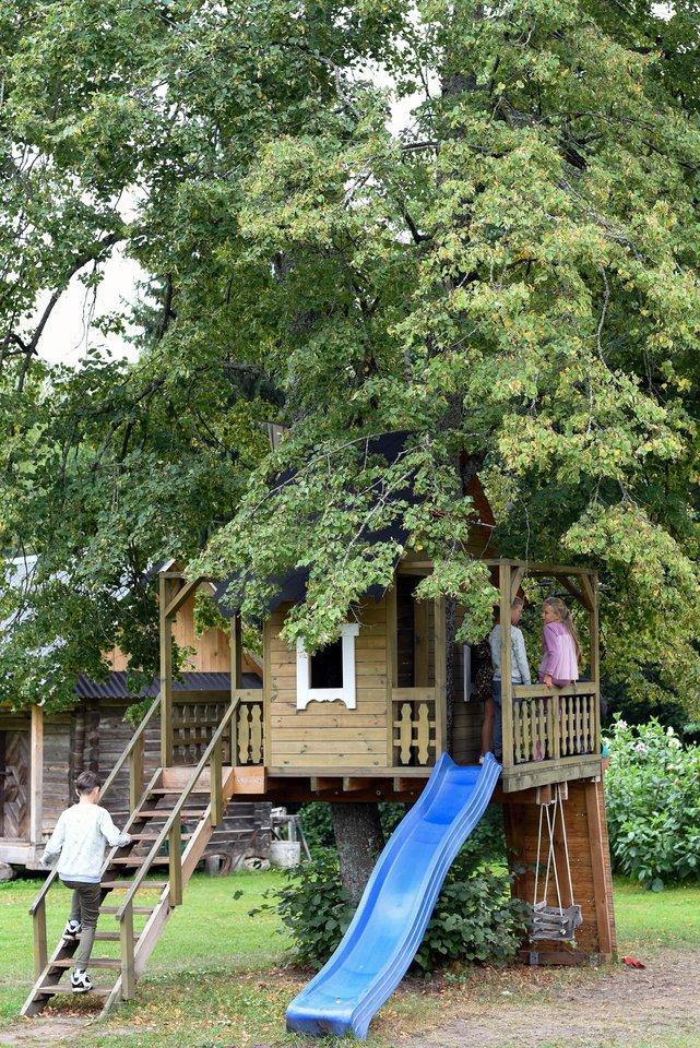 """Išskirtinė kaimo turizmo sodyba """"Namelis medyje"""" sulaukė milžiniško populiarumo ir šeimų su vaikais dėmesio.<br>""""Namelis medyje"""" nuotr."""