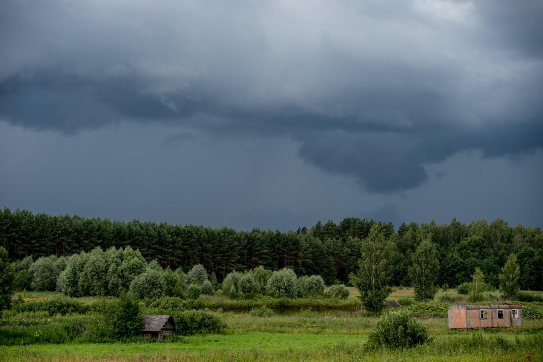 Ciklonas Lietuvoje įsisiautės: vienam regionui klius labiausiai – žada smarkų lietų, perkūniją.<br>V.Ščiavinsko nuotr.