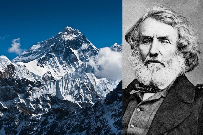 George'as Everestas niekada nebuvo akyse regėjęs aukščiausio pasaulyje kalno, kuris buvo pavadintas jo vardu.<br>123rf / Wikimedia nuotr., lrytas.lt mont.