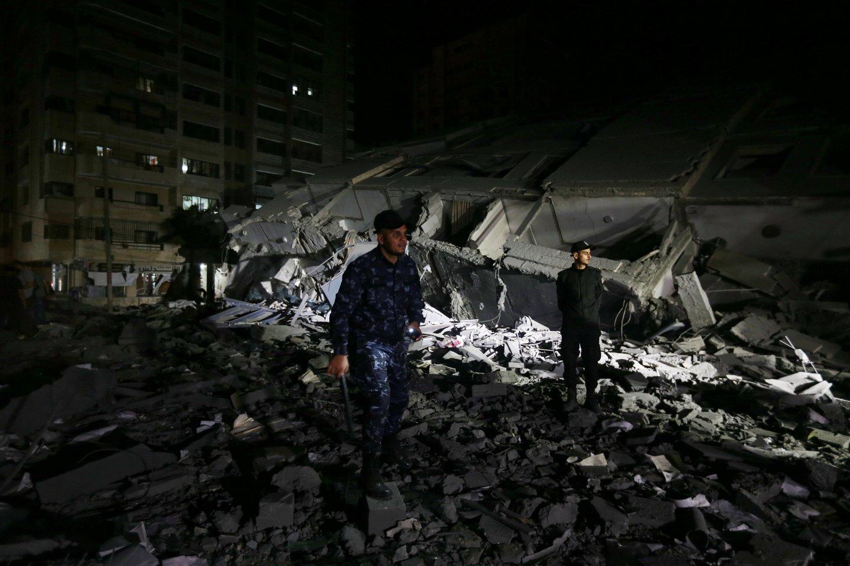 """Šią savaitę skelbtuose pareiškimuose dėl krizės Artimuosiuose Rytuose JAV pabrėžė, kad Izraelis turi teisę gintis nuo raketų atakų, rengiamų Gazos Ruožą kontroliuojančio islamistų judėjimo """"Hamas"""".<br>Reuters/Scanpix nuotr."""