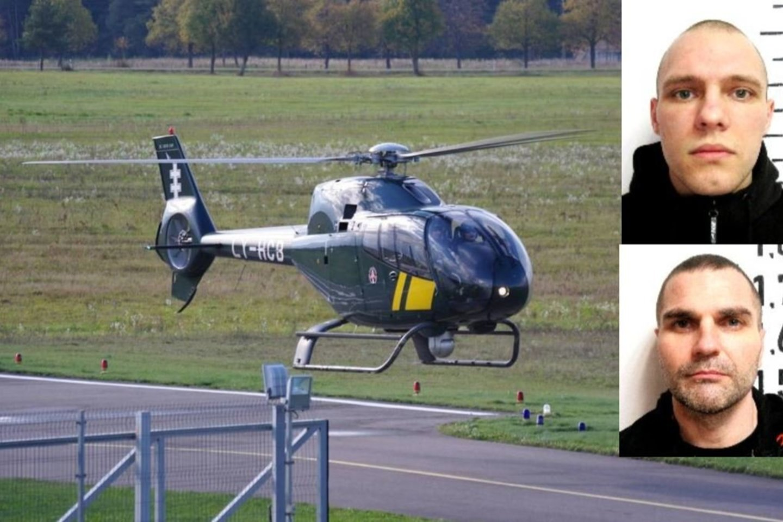 Iš Pravieniškių pataisos namų išlaužę grotas pabėgo 2 kaliniai: į orą pakeltas sraigtasparnis.<br>Lrytas.lt koliažas