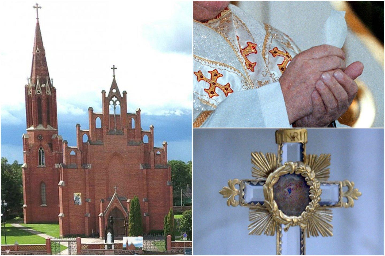 D.Matiukas savo nusikalstama veikla apjuodino Rokiškio bažnyčią.<br>lrytas.lt koliažas.