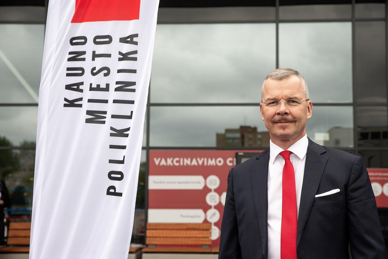 Kauno miesto poliklinikos direktorius Paulius Kibiša.<br>Pranešimo spaudai nuotr.