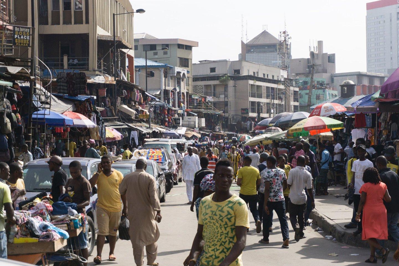 Nigerijos sostinės Lagoso centras.<br>AFP/Scanpix nuotr.