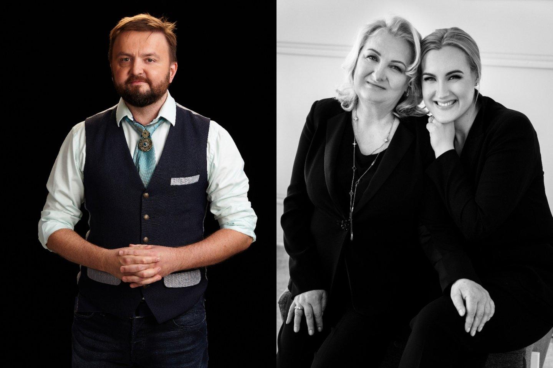 Stanislavas Stavickis-Stano ir Tatjana Liubertienė su dukra Agne.<br>lrytas.lt montažas.