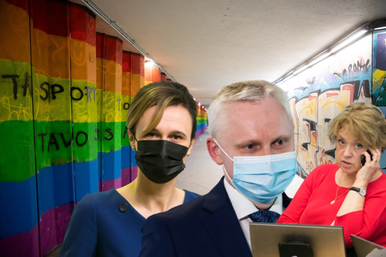 Seimo pirmininkei V.Čmilytei-Nielsen pateikus advokato V.Mizaro kandidatūrą į Konstitucinio teismo teisėjus, šio kova už homoseksualų teises ypač užkliuvo V.Aleknaitei-Abramikienei.<br>lrytas.lt montažas.