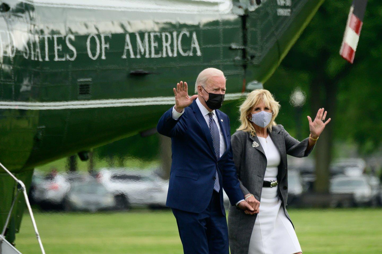 Joe ir Jill Bidenai.<br>CNP/AdMedia/SIPA/Scanpix nuotr.