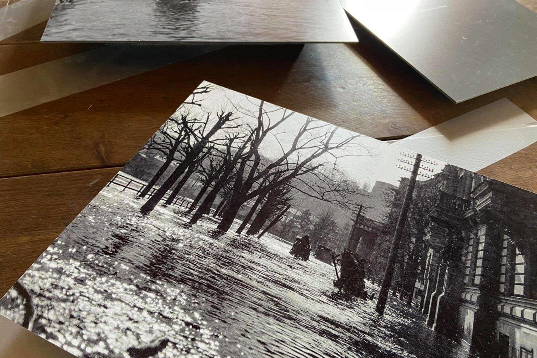 Instaliacijos, skirtos prieš 90 metų įvykusiam Didžiajam Vilniaus potvyniui, fragmentas.<br>Bažnytinio paveldo muziejaus archyvo nuotr.