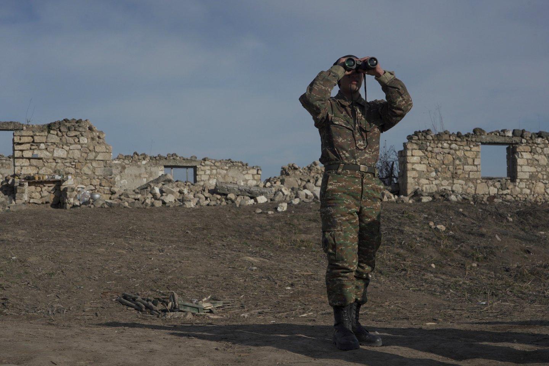 Jungtinės Valstijos atkreipė dėmesį į pranešimus, kad Azerbaidžano pajėgos traukiasi, ir paragino nesustoti.<br>Reuters/Scanpix nuotr.