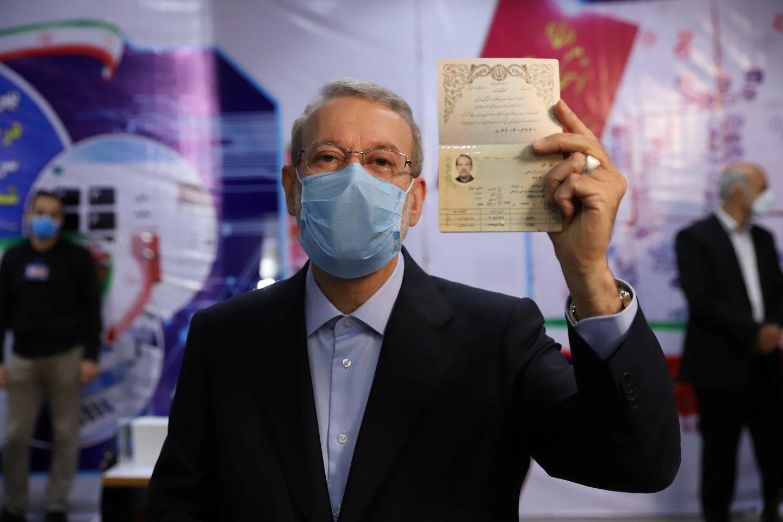 Tai jau antras kartas, kai A. Larijani kandidatuoja į prezidento postą.<br>Reuters/Scanpix nuotr.