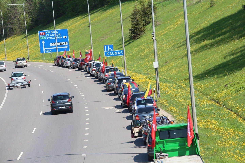 Maršo dalyviai Kaune.<br>M.Patašiaus nuotr.
