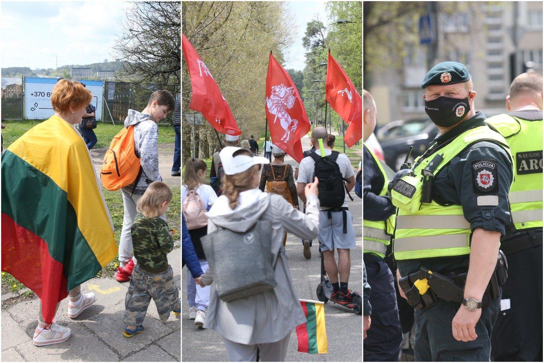 Šeimų maršo dalyviai į Vingio parką patraukė dar 13 valandą.<br>lrytas.lt koliažas.