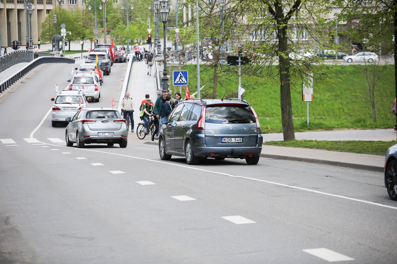 Vingio parke renkasi maršo dalyviai.<br>T.Bauro nuotr.