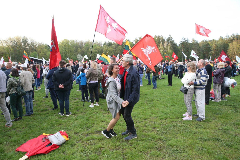 """Kontroversiškai vertinamas """"Didysis šeimos gynimo maršas"""" Vingio parke.<br>R.Danisevičiaus nuotr."""