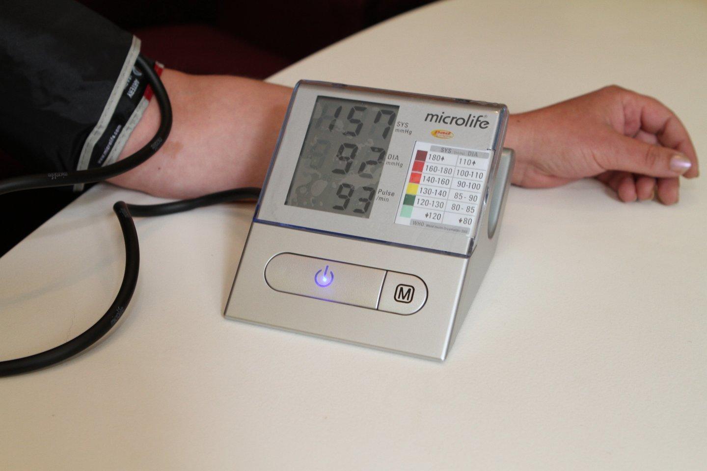 Kraujospūdis, kraujospūdžio aparatas, sveikata<br>M.Patašiaus nuotr.
