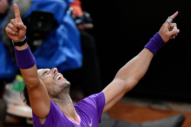 R.Nadalio triumfas.<br>AFP/Scanpix nuotr.