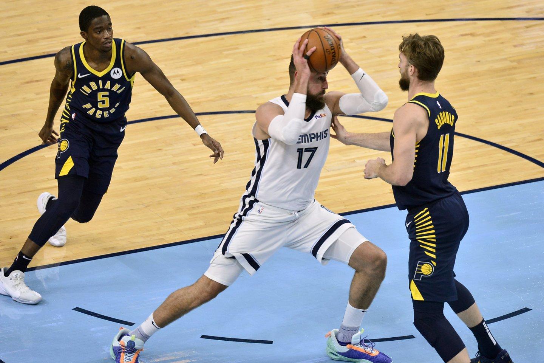 Jonas Valančiūnas ir Domantas Sabonis turi galimybių kovoti NBA atkrintamosiose dvikovose.