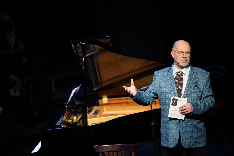 Muzikologas V.Gerulaitis.<br>E.Kniežausko nuotr.