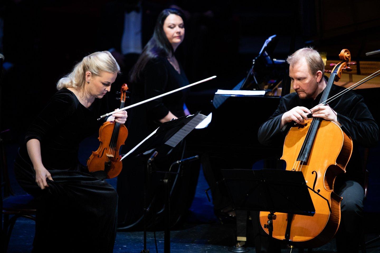"Fortepijoninis trio ""FortVio"".<br>E.Kniežausko nuotr."