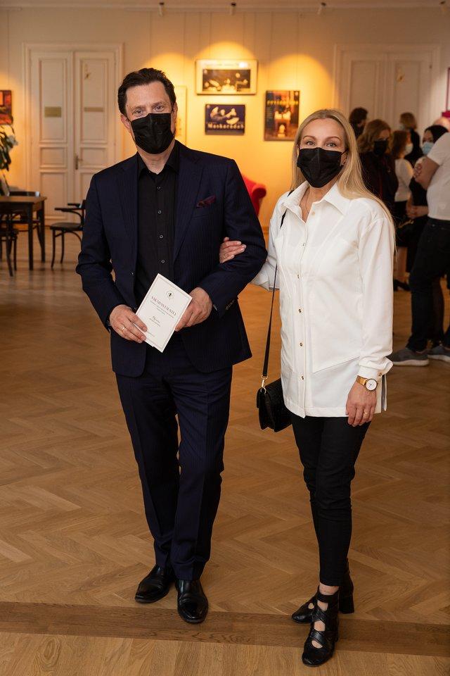 V.Juozapaitis su žmona.<br>E.Kniežausko nuotr.