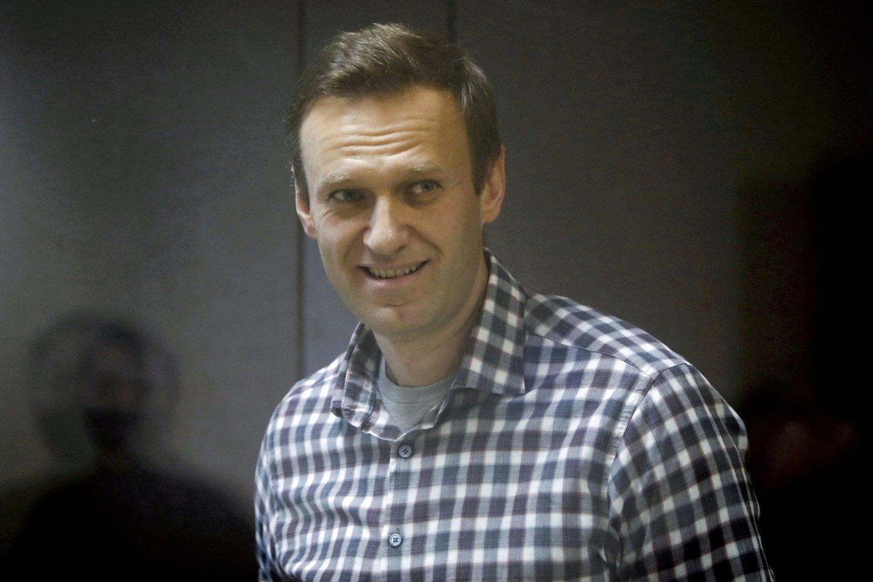 Rusijos teismas ruošiasi svarstyti galimybę uždrausti A. Navalno judėjimą.<br>Reuters/Scanpix nuotr.