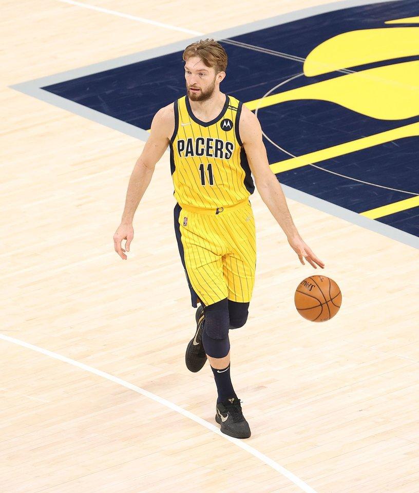 Domantas Sabonis puikai žaidė reguliariame NBA sezone.<br>AFP/Scanpix.com nuotr.