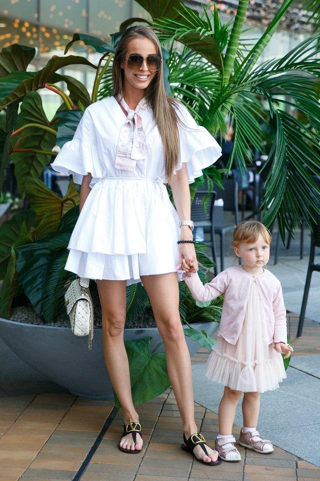 Viktorija Siegel su dukra Nicole.<br>T.Bauro nuotr.