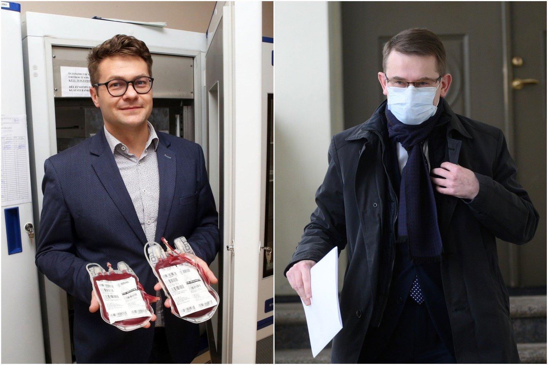SAM apie A.Pečkausko nusišalinimą paskelbė jau po to, kai medikai viešai prakalbo apie A.Dulkio viceministro ryšį su tiesioginiu nusižudžiusios medikės vadovu.<br>lrytas.lt koliažas.