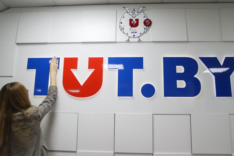 Baltarusijoje nepriklausomo naujienų portalo Tut.by redakcijoje atliekama krata. <br>TASS/Scanpix nuotr.