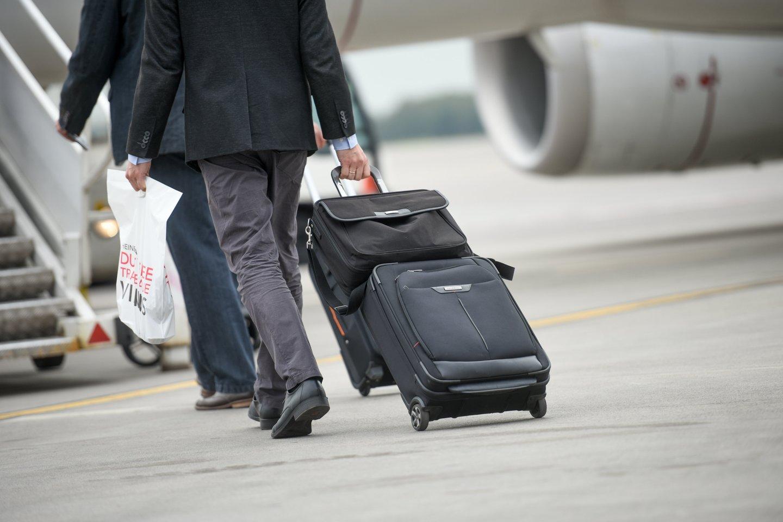 Vilnias oro uostas, naujas skrydis.<br>D.Umbraso nuotr.