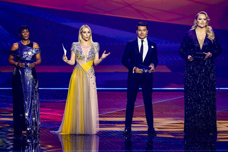 """""""Eurovizijos"""" vedėjai.<br>Scanpix nuotr."""