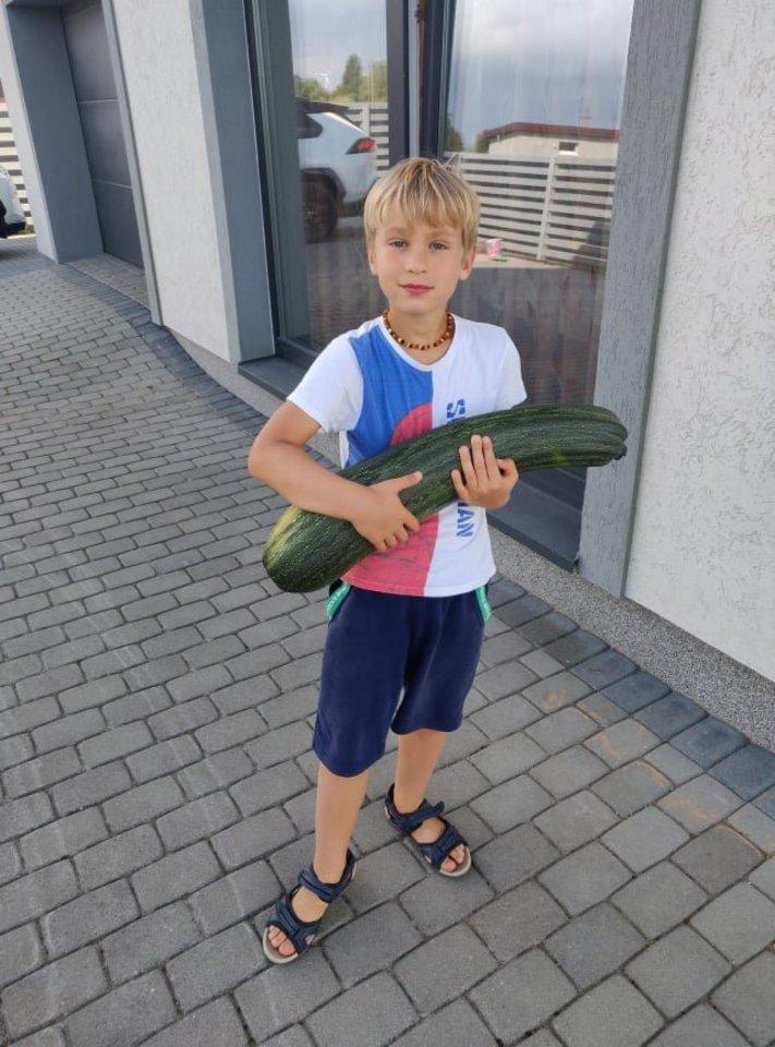 Kristijonas Poškus mėgsta auginti daržoves.<br>Asmeninio albumo nuotr.