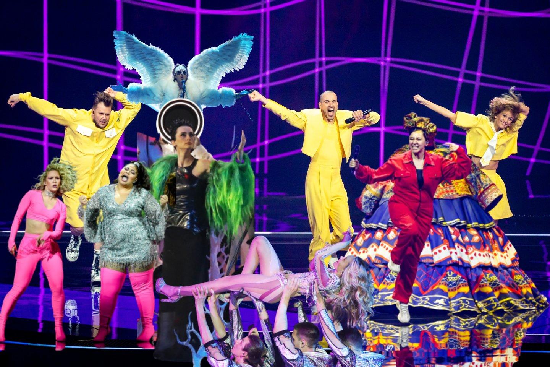 """Pirmasis """"Eurovizijos"""" pusfinalis.<br>Scanpix nuotr."""