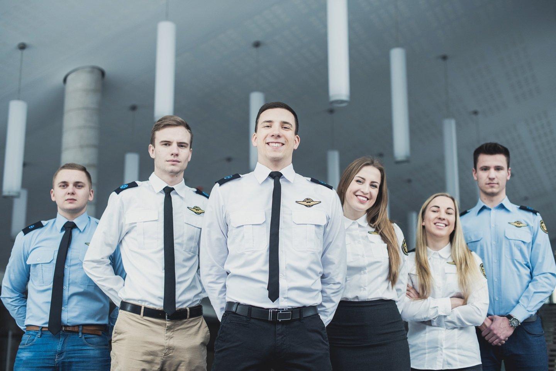 Aviacijos studentai.<br>VGTU nuotr.