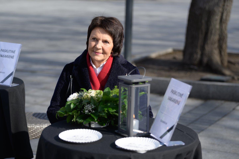 """E.Šiškauskienė: """"Mūsų prašymas – viešbučiuose leisti maitinimą švediško stalo principu.""""<br>V.Skaraičio nuotr."""