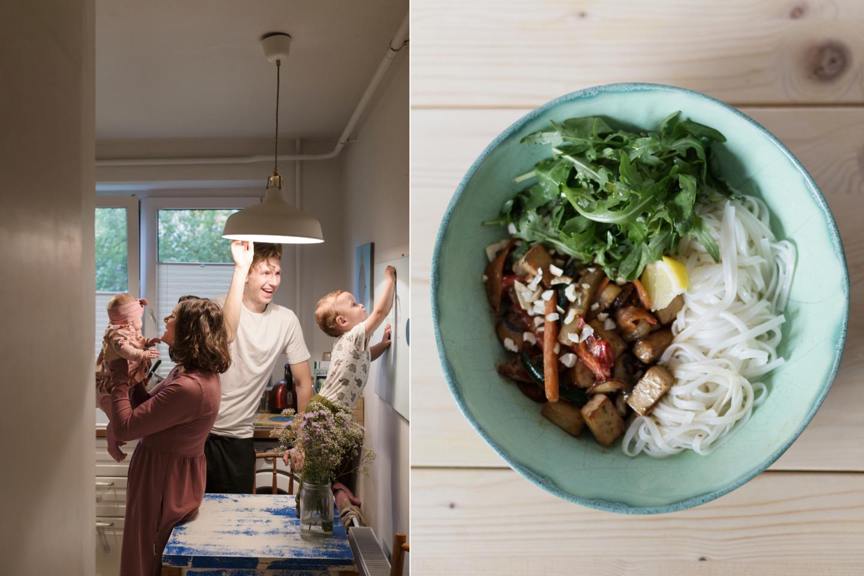 Teresių šeima mėgaujasi vegetarine mityba ir svajoja ateityje kuo daugiau maisto užsiauginti patys.<br>Asmeninio albumo nuotr.