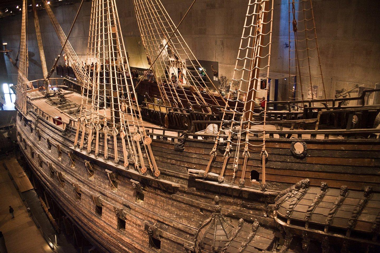 1627 m. nuskendęs laivas 1961 m. buvo iškeltas, restauruotas ir dabar eksponuojamas Stokholmo Vazos muziejuje.<br>A. Rutkausko nuotr.